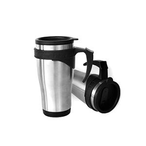 mdm-brindes - Caneca de inox com tampa, capacidade 450 ml