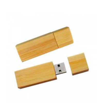 - Pen drive de 4 Gb, corpo de bambu. Gravação Laser ou Tampografia