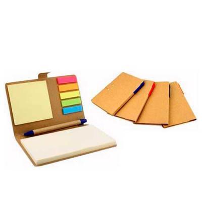 mdm-brindes - Bloco de anotação com sticky notes coloridos, material reciclado, gravação em Silk ou Tampografia