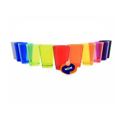 - Copo Shot de Acrílico Ps Cristal capacidade para 60ml, ideal para pequena doses. Disponível em diversas cores, Suas medidas 63mm x ,048mm. Caixa com 5...