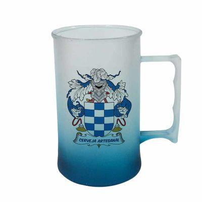 sertha-brindes - Caneca Plástica 450ml Jateada Azul com Gravação em Transfer