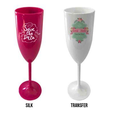 Taça de Champagne - Gravação Silk e Transfer