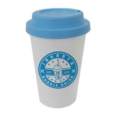 - Copo plástico com capacidade de 450 ml em PP - personalização em SILK ( 1 cor )