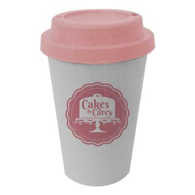 sertha-brindes - Copo 450ml PP com tampa star rosa - Gravação em Silk