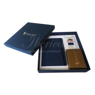 Ibérica Embalagens Premium - Caixa para kit com moleskine e acessórios