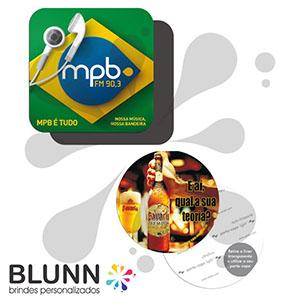 blunn - Bolacha de chopp personalizada com 8 cm sem limite de cores