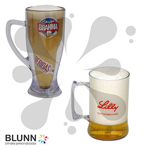 blunn - Caneca de chopp em acrílico cristal, impressão em silk-screen até 4 cores ou transfer