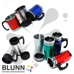 Caneca térmica em alumínio, diversos tamanhos e modelos - Blunn