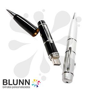 Blunn - Caneta pen-drive com laser point