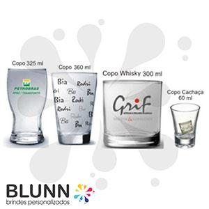 Blunn - Copo de vidro, diversos modelos e tamanhos para diversos tipos de ocasiões