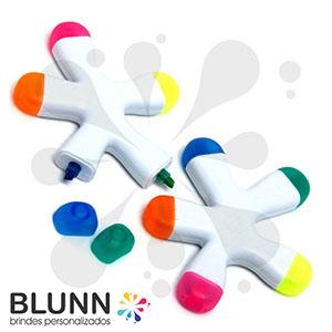 blunn - Caneta marca-texto com 5 cores produzida em material plástico