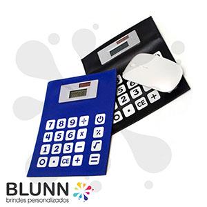 Mouse-pad calculadora flexível, com bateria solar