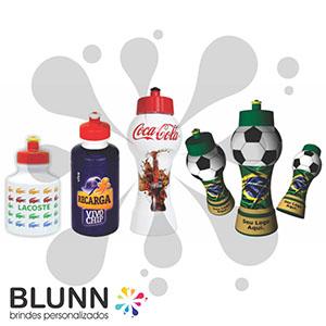 Blunn - Squeeze de plástico com 9 cores de garrafas e tampas, este produto é fabricado com material totalmente atóxico e pode ser gravado em Rótulo Termo Retr...