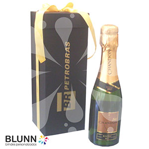 Blunn - Caixa de champanhe com rótulo personalizado