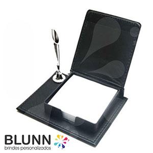 blunn - Bloco de anotações em couro com porta-caneta, contém 150 folhinhas
