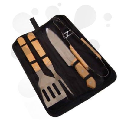 Kit churrasco personalizado com 4 peças