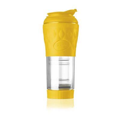 naxos - Cafeteira Pressca portátil amarela, promocional