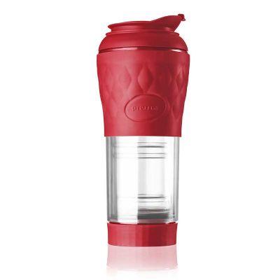 naxos - Cafeteira Pressca portátil vermelha, promocional