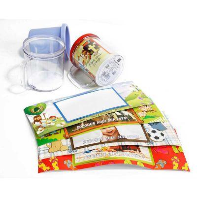 Caneca para colocar foto, duas partes serve para colocar foto e servir uma bebida, 8 cores disponíveis - Naxos