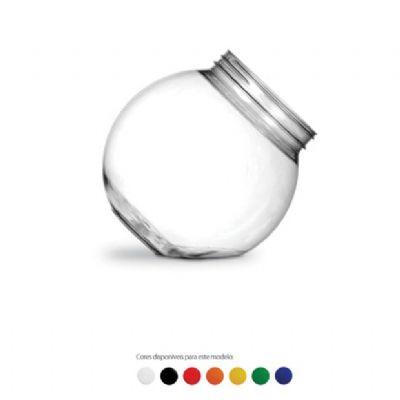Baleiro personalizado em plástico pet transparente - 2400 ml