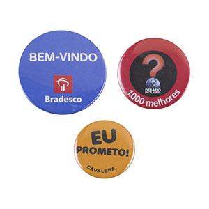 nts-brindes - Button americano - 3 tamanhos 3,5 / 4,5 / 5,5 cm
