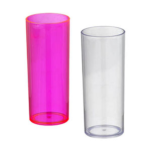 Copo Long Drink 280 ml - plástico translucido, varias cores
