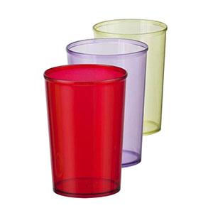 NTS Brindes - Copo 300 ml - plástico translucido (disponível em varias cores