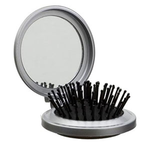 Escova de cabelo retrátil com espelho - NTS Brindes
