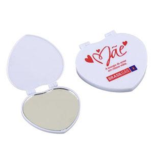 nts-brindes - Espelho de bolsa em formato de coração