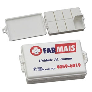 nts-brindes - Porta-comprimidos de plástico injetado com 8 divisões