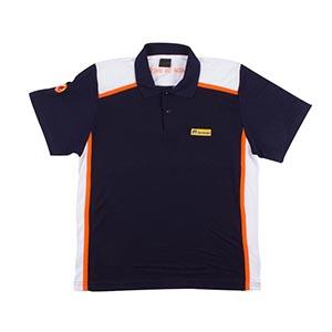 2797bead6 Camisa polo masculina manga curta com recorte no ombro e lateral com friso  contrastante Tecido