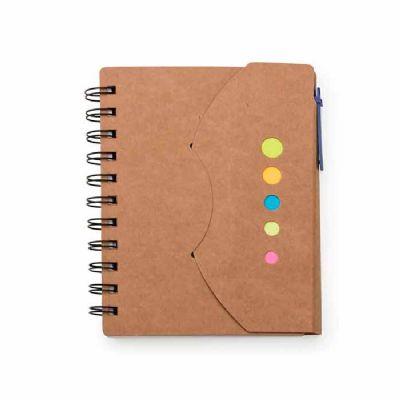 Bloco de Anotações com Caneta e Sticky notes