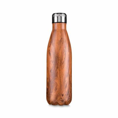 Brindez Brindes Promocionais - Garrafa aço inoxidável 750 ml madeirado