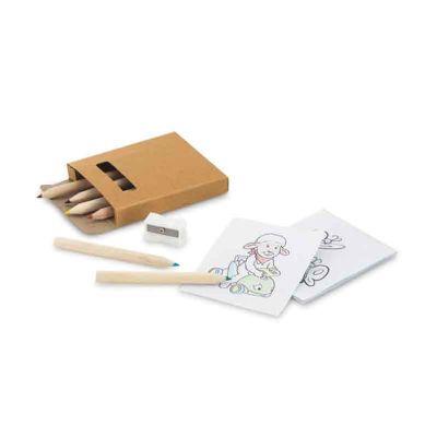 brindez-brindes-promocionais - Kit para pintar com folhas e lápis de cor