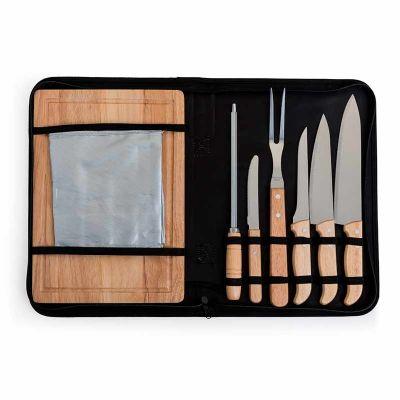 Kit Talheres para churrasco com 8 peças