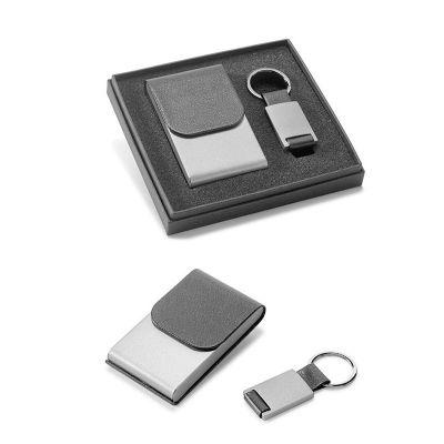 Brindez Brindes Promocionais - Kit porta cartão com chaveiro.