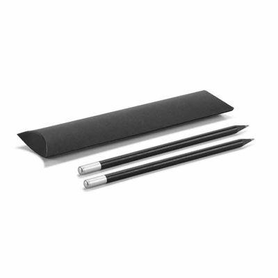 Conjunto de lápis. Com bolsa de oferta em cartão