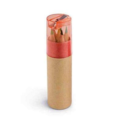 brindez-brindes-promocionais - Tubete com 6 lápis de cor