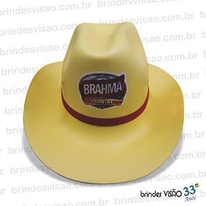 Brindes Visão - O Rei do E.V.A... - Chapéu modelo Cowboy em E.V.A. diversas cores, copa alta, acabamento com ótima qualidade