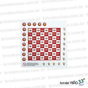 brindes-visao - Jogo de Damas impressão cromia em Off-Set dublado no E.V.A., opção de usar marcas ou logos como peças do jogo