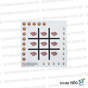 Brindes Visão - O Rei do E.V.A... - Jogo da Velha diversos formatos e tamanhos, pode ser utilizados marcas e logos dos clientes no lugar dos tradicionais X e O