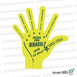 Brindes Visão - O Rei do E.V.A... - Mãos para Eventos em EVA especial Hexa, 6 dedos