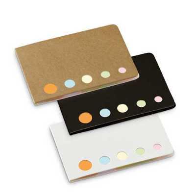 Caderno. Cartão. 5 conjuntos: 25 folhas cada. 80 x 60 x 3 mm