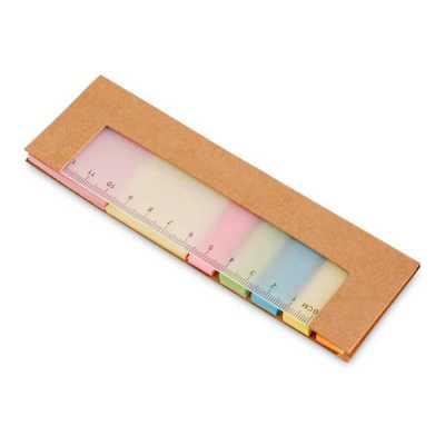 Ewox Promocional - Caderno. Cartão. 7 conjuntos: 25 folhas cada. Com régua de 12 cm com escala impressa. 159 x 50 x 3 mm