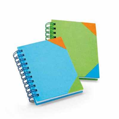 ewox-promocional - Caderno Cartão. 60 folhas pautadas brancas. 80 x 100 mm