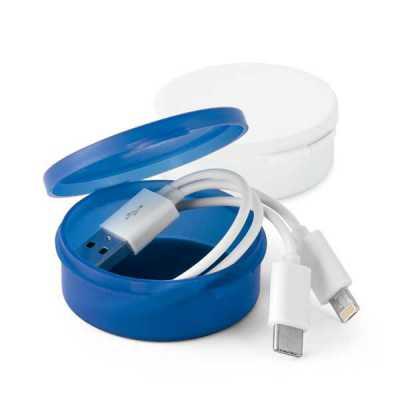 ewox-promocional - Cabo USB 3 em 1. ABS e PVC. Adequado para carregar dispositivos móveis. Dispõe de um conector USB tipo C e um conector 2 em 1, compatível com entradas...