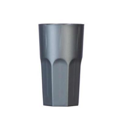 Copo plástico 350ml simples com detalhes em relevo na parte inferior, inteiro colorido. - Ewox Promocional