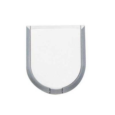 Ewox Promocional - Espelho duplo plástico em formato escudo, com aumento.