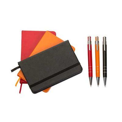 Conjunto Caneta e Caderneta de bolso