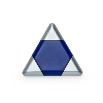 Kit ferramenta triangular plástico com 3 peças. Material plástico colorido com três tampas prata,...